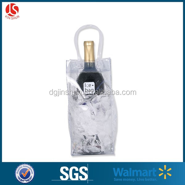 PVC clear / colored wine ice bag for beer / wine