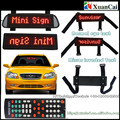 Nylon straps Fixing Car sunvisors with Normal eye+Mirror inverted writing words LED car sign
