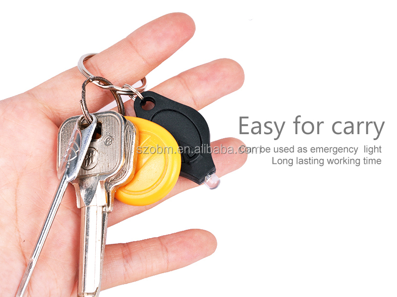 7 Color Flashlight Mini Led Keychain Plastic Keyring 20000mcd Cheap Custom Fashion UV Torch Keyring