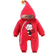 Children New Year festive Red romper thickened baby clothing wholesale