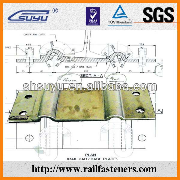 S49 iron plate for railway slepper