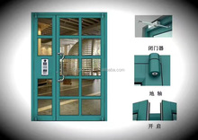 used commercial aluminum frame glass entry door apartment front door