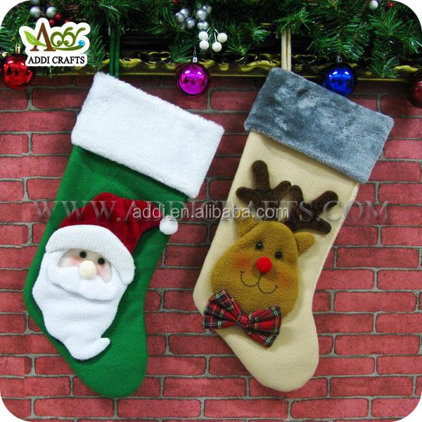 new products 2017 bulk christmas stockings santa and reindeer christmas stocking