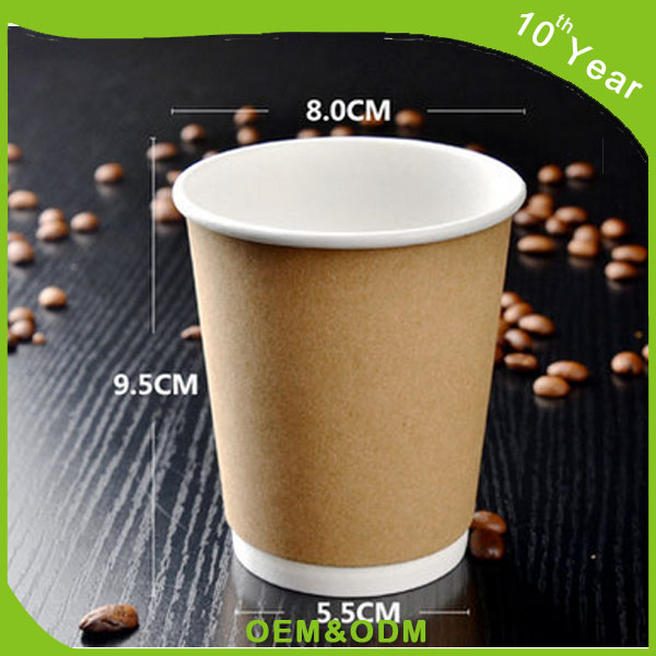 Brown colour double wall kraft paper cup