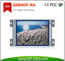 LCD Display 8.4 Inch 5 Wires Resistive Open Frame Touch Screen Monitor for Kiosk, ATM, VTM, HMI, Medical, Industrial Control