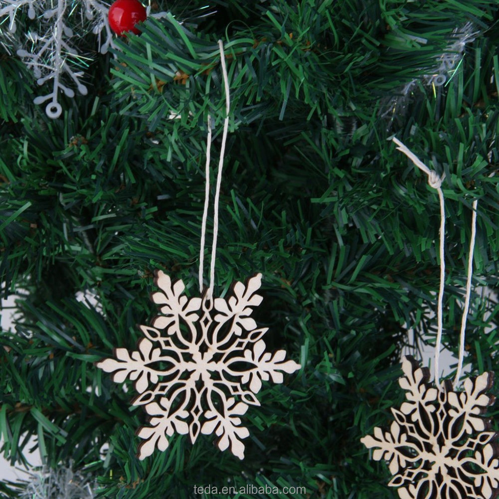 Christmas tree decoration wood christmas hanging ornaments