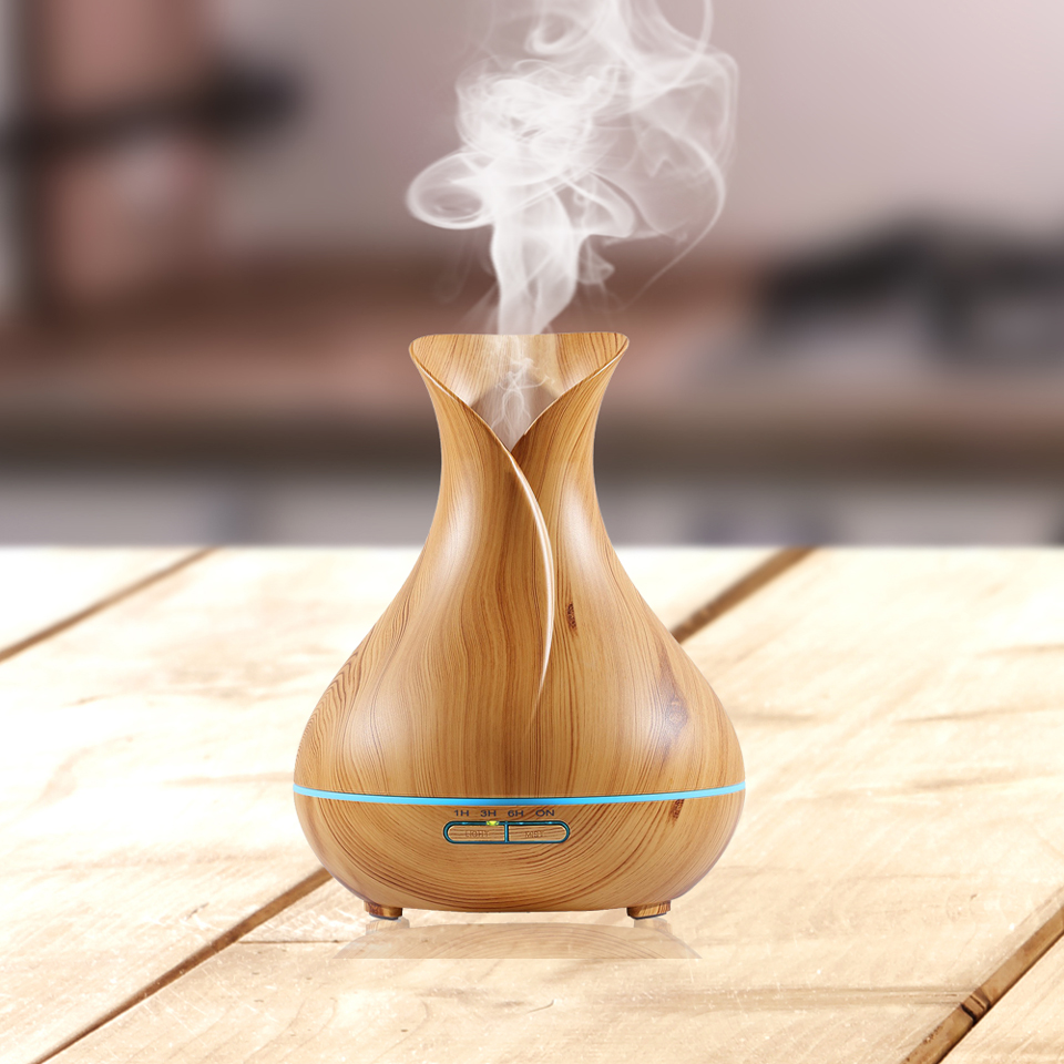 Wooden grain 400ml yoga spa aromatherapy machine aroma diffuser