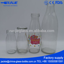 RJ Fda Passed Glass Milk Bottles Delivery Coconut Milk Of Milk Brands Bottle Health Container Jars Manufacturers