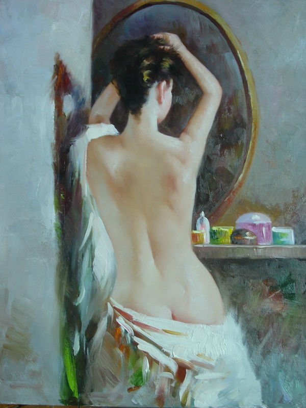 100% handmade indian women sex image Abstract art painting nude woman back pictures, home decorative painting