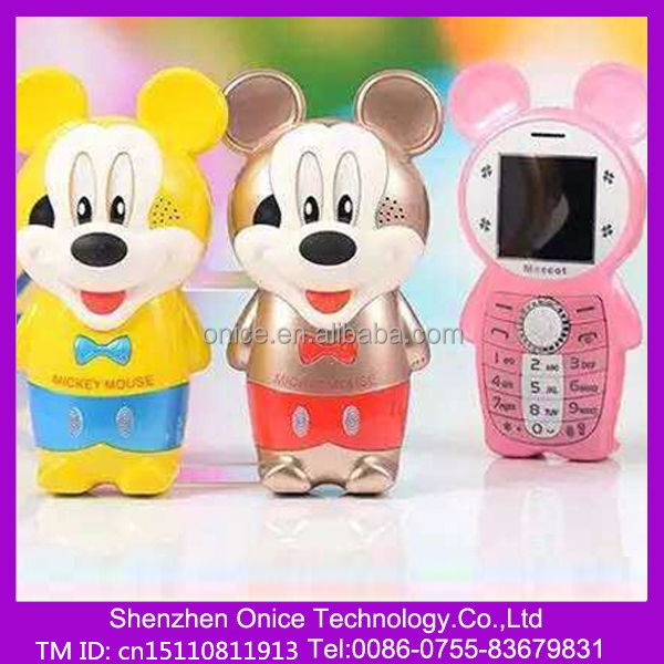 K9 wholesale phone for kids cartoon animal micky mouse 1.44 inch micky mobile phone with camera many color