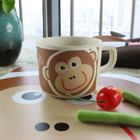 made in china monkey animal natural 100% bamboo fiber eco friendly kids drinking cup, soup cup