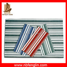 China Textile Factory Yarn Dyed Stripes Kitchen Cotton Hanging Tea Towels