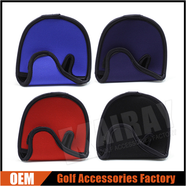 Blank Neoprene Golf Mallet Two Ball Putter Head Covers