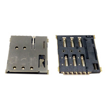 Hot saling Push Push 6+1 pin nano sim socket for mobile / computer