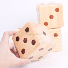 Large Wooden Yard Dice Outdoor Lawn Game Wooden Extra Large Numbered Big Dice in Carry Bag