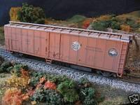 HO weathered Portland Fruit Express 50-ft reefer KDs Train Carriage