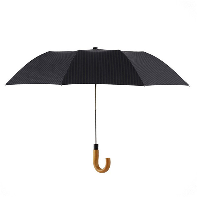 Latest product factory directly umbrella auto folding wood