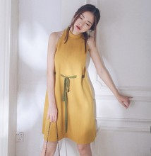 B20916A The Summer new fashion dress cut shoulder dress