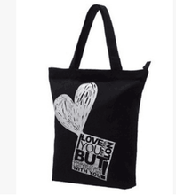 100% Recycled Wholesale Cheap Fashion Black Cotton Canvas Women's Shopping Tote Bag