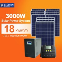 3kw off-grid custom design solar power system from china