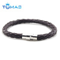 Fashion design charm custom bracelet mens leather bracelet for man