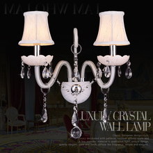 K9 Crystal Clear Antique Champagne Home Wall Bracket Light Fitting