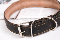 Pet supplies leather dog collar