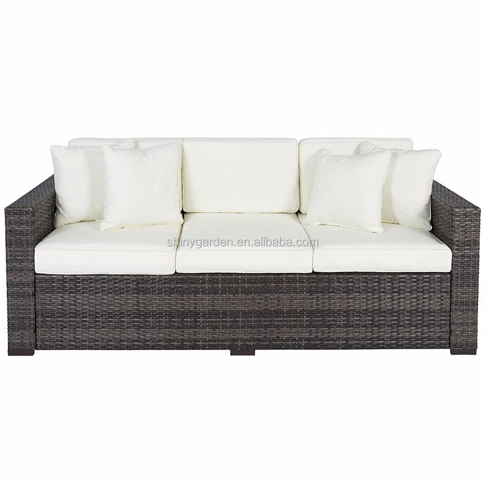 Patio esterno di lusso comfort in rattan di vimini divano for Mobili in rattan