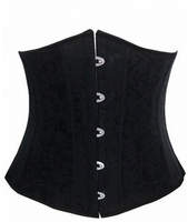 Walson corset with 24 steel bone leather corset with straps