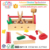 Children Wooden Tool Set Child Pretend Play Take Along Tool Kit Toys