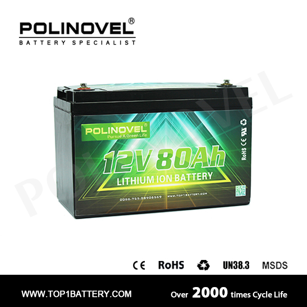 Golf cart battery pack 24v 80ah lifepo4 energy storage rechargeable DC battery pack
