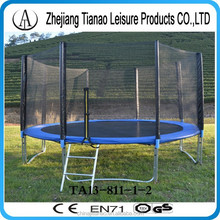 high quality trampoline 12 ft jumping bed with safety net and ladder cheap and sale