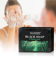 Wholesale Natural Bamboo Charcoal Handmade Face Soap for Deeply Cleansing and Acne