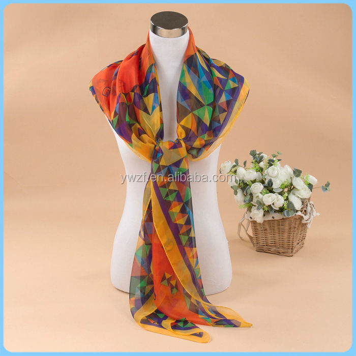 have in stock viscose/rayon silk shawls square printed scarves mix designs delivery