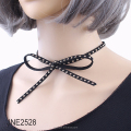 Punk Style velvet Collar Choker Necklace with Rivets Accent