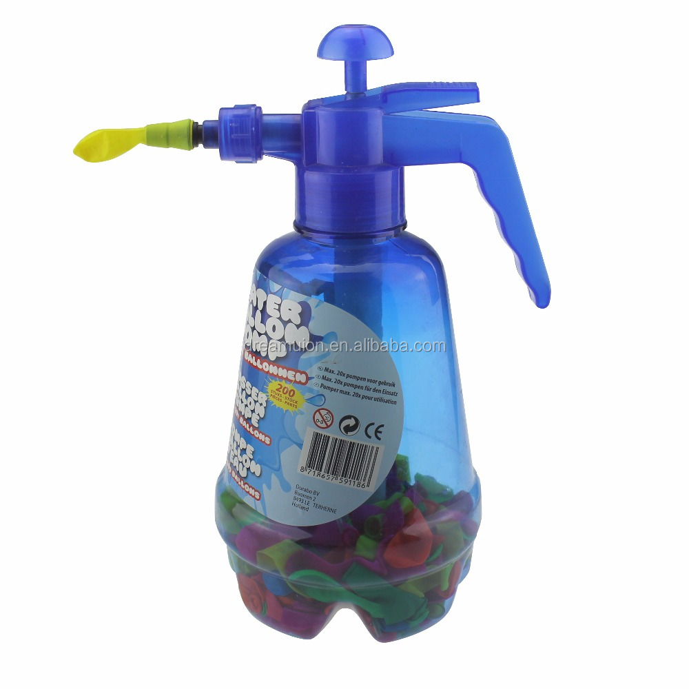 Water Balloon Pump with 300 Balloons Air or Water Bomb outdoor Garden Fun Kids Games