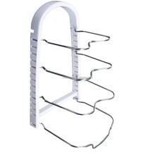 Kitchen adjustable colorful pot stand rack tools prepare frying pan shelvers rack pot cover holder rack with clip