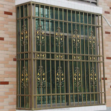 Wrought iron anti-theft window guards/french window grill design