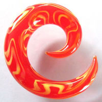 Fashion glass spiral body piercing jewelry