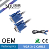 SIPU High quality Black PVC jacet male to male HD 15 pin 6ft vga computer cable