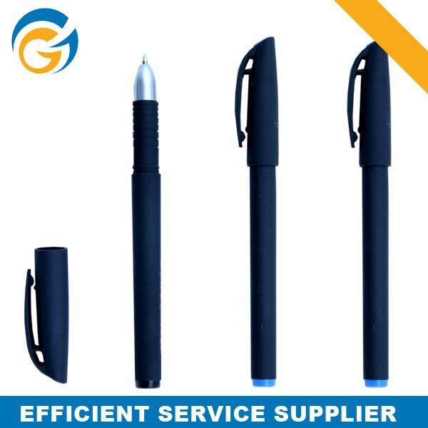 Black Rubber Advertising Cheap Promotional Pen for Sale