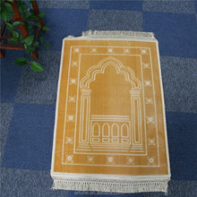 Mosque polyester embossing prayer rug