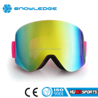 lady warm color design mirror lens mx eyeglass goggles motocross with tear off