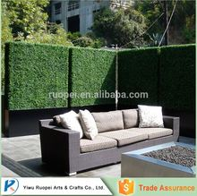 decorative artificial green grass wall topiary boxwood hedge