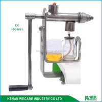 factory price stainless steel hand operated oil press/manual oil press/hand crank oil press