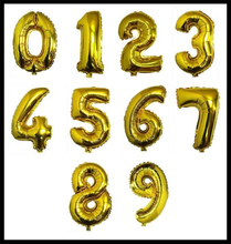Free shipping letter number gold sliver foil balloon wholesale
