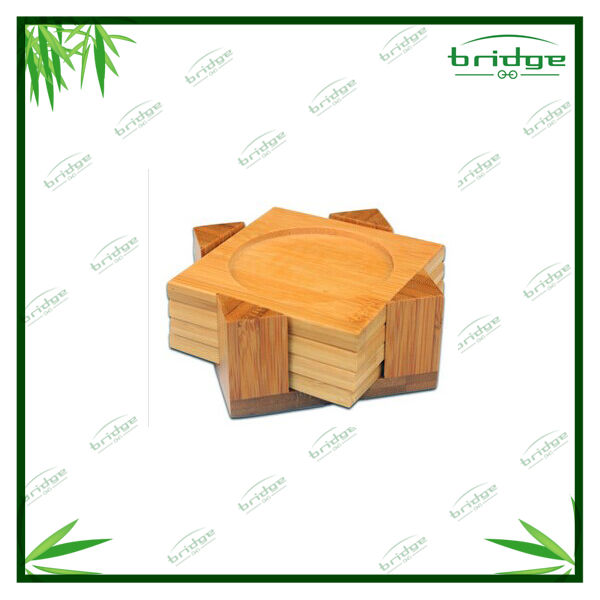 4 Piece Bamboo Coasters