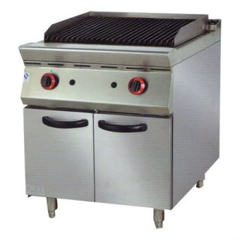 PK-JG-9892 Gas Lava Rock Grill/Broiler WIth Cabinet, 900 series, for Commercial Kitchen
