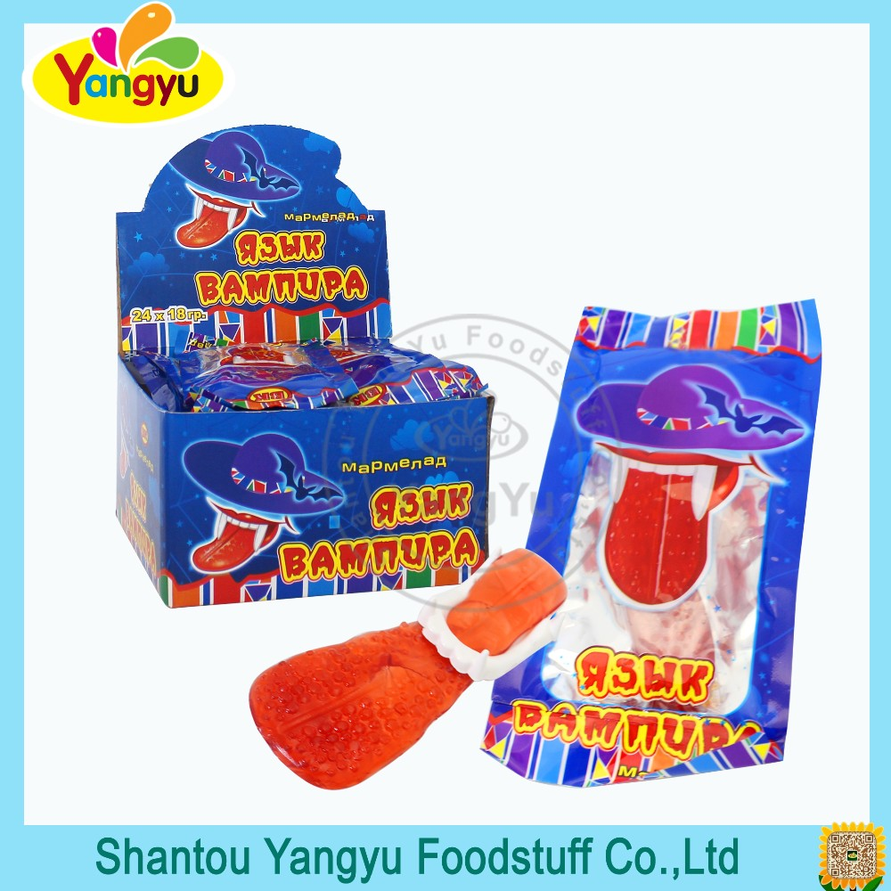 Halal Candy Halloween Tongue Set Soft Jelly Candy