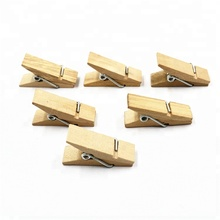 Wholesale 3.6 cm size natural wood clip mini clothpin cloth peg craft clips